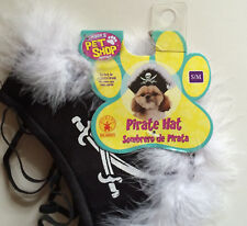 Pirate Hat Dog Halloween Costume - Small/Medium Cap - Black - New With Tags