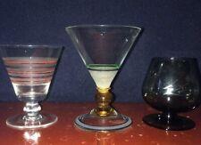 3 Vintage Liqueur Glasses- Art Deco - 1950's