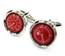 Red Round Speedometer Cufflinks Automotive Cuff Links Car Gemelos USD 100 for 7
