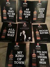 Sinatra /Jack Daniels postcards  new set 5 by 7  8 pack