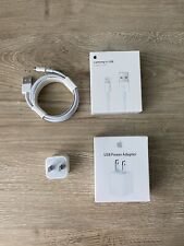 OEM For Apple iPhone  5W USB Wall Charger Cube And 2M/6ft USB Lightning Cable