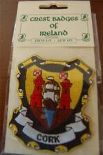 County CORK Irish PATCH Coat of Arms - Crest - Embroidered - Badge - Ireland
