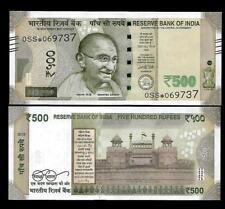"""Rs.500/- Urjit Patel  Star Note """"A"""" Inset  Prefix 0SS  2018 - UNC  LATEST"""