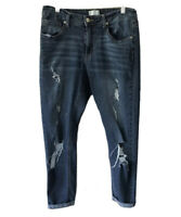 Altar'd State Women 27 Distressed Skinny Jeans Size 27 Ankle Dark Wash
