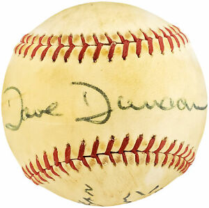 Dave Duncan Autographed Spalding Baseball A's, Vintage Signature Beckett Y93198