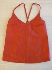 ASOS Orange Real Leather cami Size 8