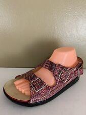 SAS Tripad Comfort Sandals Womens Size 9W Multicolor Slingback Adjustable Buckle