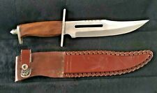 """Pakistan Stainless clip point 13.5"""" Bowie Knife through tang With Custom Sheath"""