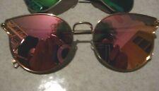 BERSHKA Sunglasses Occhiali da sole a specchio rosa