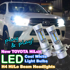 Pair of H4 Hi/Lo LED Light Bulbs for 2015-2019 TOYOTA HILUX Headlights 4X4 4WD