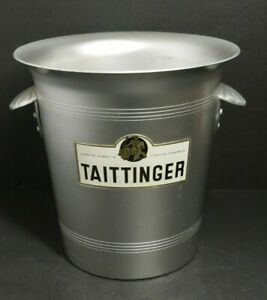 TAITTINGER Reims Champagne Ice Bucket Shell Handles Made in France