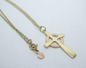 "Clogau Gold, 9ct Yellow & Rose Gold Cross Pendant & 18"" Chain"