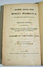 1862 Biblia Hebraica Johanne Leusden rare book LONDON HEBREW Judaica +MANUSCRIPT