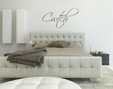 Cwtch wall art sticker Home Decor Lounge Living Room Bedroom Kitchen love quote