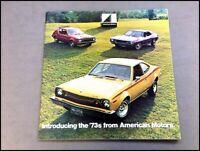 1973 AMC 40-page Car Sales Brochure Catalog - Gremlin AMX Javelin Matador Hornet