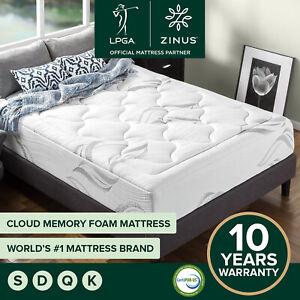 Zinus Cloud Memory Foam Mattress QUEEN DOUBLE KING SINGLE Medium Soft No Spring
