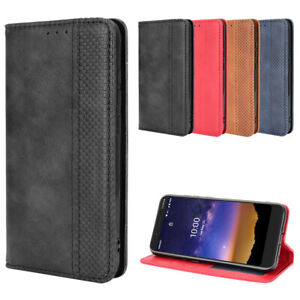 For Vodafone Smart E11 Case Shockproof Magnetic Leather Wallet Stand Cover