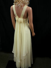 Dress Gown Formal Maxi Jordon Pastel Yellow Back Veil Rose Godness Sleeveless PS