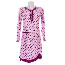 Camicia da notte donna  invernale in caldo cotone interlock felpatina  7DICAM021