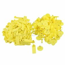 100 Set Yellow Ear Tag without Number for Livestock Cattle Pig Goat