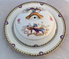 Vintage Bloch & Co Eichwald Porcelain Peacock Covered Dish