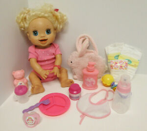 2009 Baby Alive My Real Baby Interactive Doll w Accessories WORKS