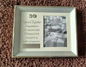 Pearl Anniversary 30 Years Together Quote 3D Photo Frame Suitable For Engraving