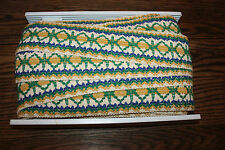 """Approx 32 yards Vintage Conso Fabric Trim 60's mid century thick woven thick 3"""""""