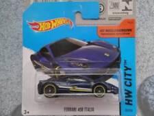Véhicules miniatures bleus Hot Wheels pour Ferrari