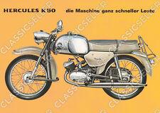 Hercules K 50 Poster Plakat Bild Kunstdruck Schild Affiche K50 Motorrad Moped