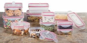 Reusable Microwave Plastic Container Set -  24 Plastic Food Storage Boxes