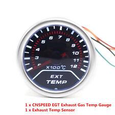 "2""52mm Exhaust Gas Temperature Gauge Smoke Lens Car LED EGT Meter Pointer Sensor"