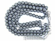 8mm x 99 HEMATITE Hadeed ISLAMIC PRAYER BEADS TASBIH MASBAHA QURAN GIFT