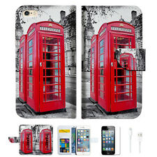 British phone Booth Wallet  Case Cover For Apple iPhone 6 6S -- A025