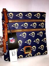 DOONEY & BOURKE LA Rams NFL FOOTBALL Los Angeles TRIPLE ZIP CROSSBODY PURSE Bag