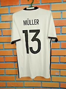 Muller Germany Jersey 2016/17 Home SMALL Shirt Football Soccer Adidas AI5014