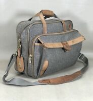 """HARTMANN Classic Walnut TWEED & Belting LEATHER 16"""" Carry On BRIEFCASE"""