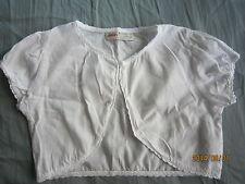Poney Girl White Short Sleeves Outerwear/Top (4-5yo) 1pcs