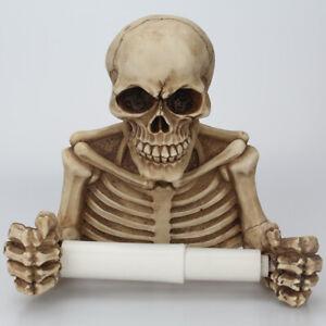 Skull Skeleton Toilet Paper Towel Roll Holder Wall Mount Bone  Bathroom Decor