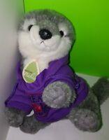 Aurora Grey Wolf Nature Babies Stuffed Animal Gray Husky Dog Puppy Fluffy Plush