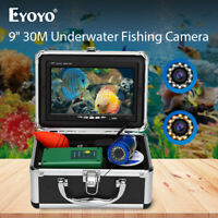 "9"" 30M Fish Finder 30pcs LEDs Waterproof 1000TVL Underwater Fishing Camera Sea"