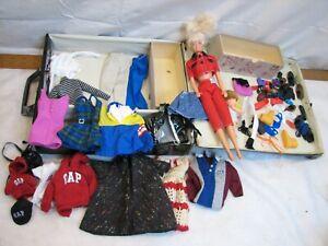 1962 Barbie Clothes Case w/Vintage Doll Toy Mattel Tommy Gap Shoes