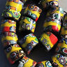 20 old antique venetian cylindrical millefiori african trade beads #4759