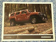 2009 HUMMER H2 SHOWROOM SALES BROCHURE SPEC SHEET ORIGINAL GM ADVERT OEM A+