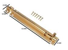 Verrou de porte à BARRE latéral 150mm 15.2cm bronze avec vis Paquet de 50