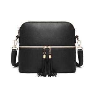 Damen Kleine Umhängetasche Handtasche Crossbody Bag Frauen Schulter Kuriertasche