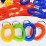 10Pcs Spring Ring Coil Keychain Keyring Elastic Spiral Wrist Cord Key Holder