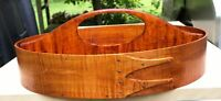 # 7 TIGER MAPLE SHAKER OVAL DIVIDED CARRIER--HANDCRAFTED