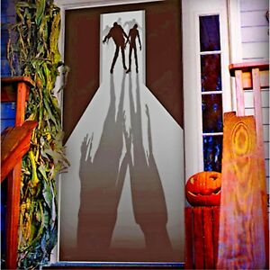 Walking Dead ZOMBIE VISITORS DOOR COVER Wall Mural Haunted House Prop Decoration