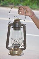 Vintage Dietz No.2 Blizzard Long Unique Iron & Brass Kerosene Lamp/Lantern,USA